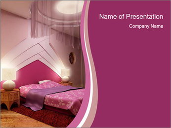 Pink Bedroom PowerPoint Template