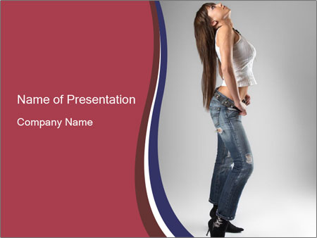 jeans powerpoint template smiletemplates com