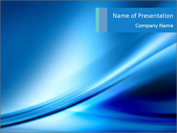 Blue Lazer PowerPoint Template