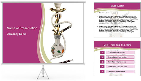 arabic water pipe powerpoint template amp backgrounds id