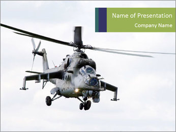 Helicopter in the Sky PowerPoint Template