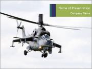 Helicopter in the Sky PowerPoint Templates