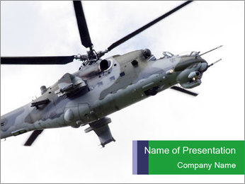 Air Force Helicopter PowerPoint Template