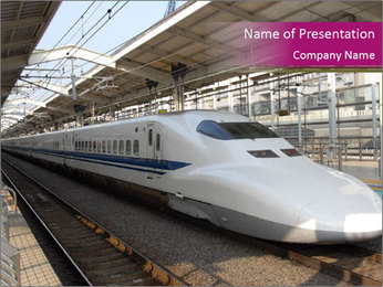 Modern Railway Station in Japan PowerPoint Template
