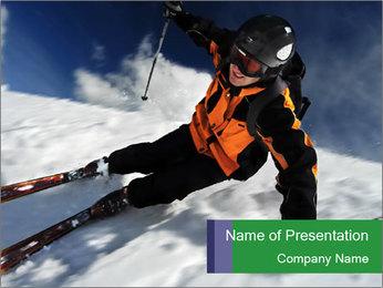 Ski Tour PowerPoint Template