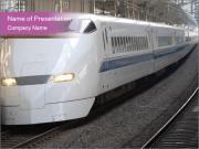 Modern Train at Railway Station PowerPoint Templates