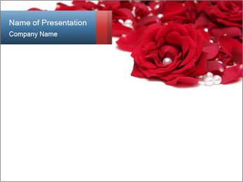 Red Roses and White Pearls Modèles des présentations  PowerPoint