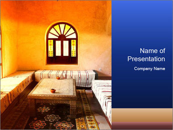 Traditional Arabian Interior PowerPoint Template