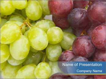 Ripe Organic Grapes PowerPoint Template