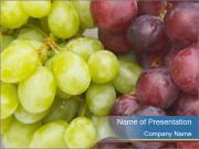 Ripe Organic Grapes PowerPoint Templates