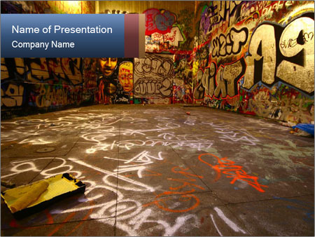 Graffitti culture powerpoint template backgrounds id 0000016034 graffitti culture powerpoint templates toneelgroepblik Image collections