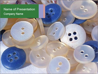 White and Blue Buttons PowerPoint Template