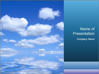 Clouds Reflecting in Water PowerPoint Template