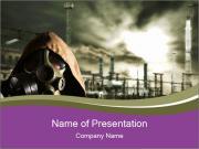 Smoke Protective Mask PowerPoint šablony