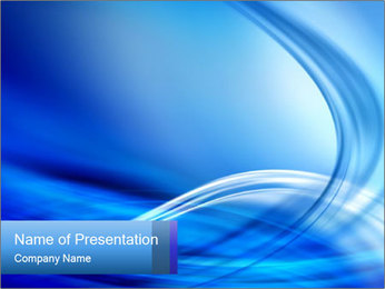 Blue 3D Composition PowerPoint Template