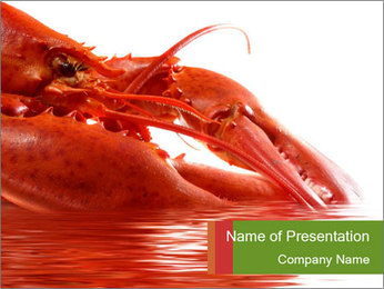 Sea Food Maket PowerPoint Template