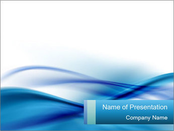 Blue Artistic Waves PowerPoint Template