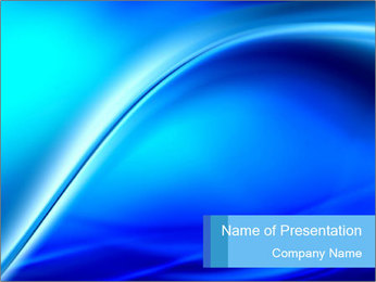 Blue Cyber Design PowerPoint Template