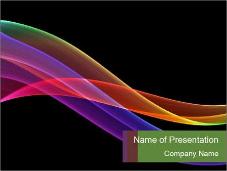 Rainbow lines on black background powerpoint template backgrounds rainbow lines on black background powerpoint template toneelgroepblik Gallery