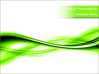 3D Green Motion Lines PowerPoint Template