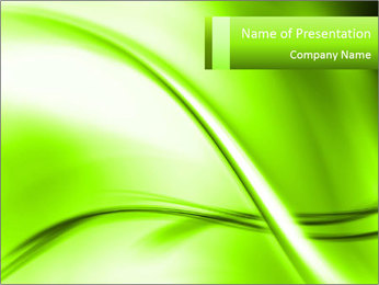 Green Abstract Composition PowerPoint Template