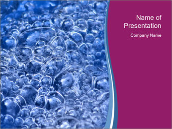 Abstract Water Bubbles PowerPoint Template