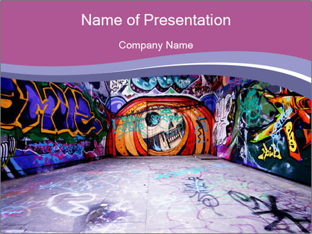 Artistic graffiti walls powerpoint template backgrounds id artistic graffiti walls powerpoint template toneelgroepblik Image collections