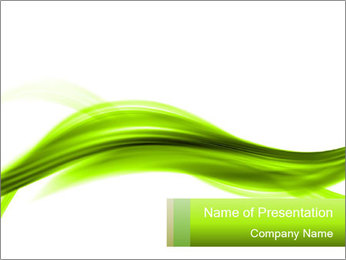 Greeen Infinite Lines PowerPoint Template