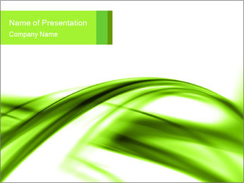 Green Horizontal Lines PowerPoint Template