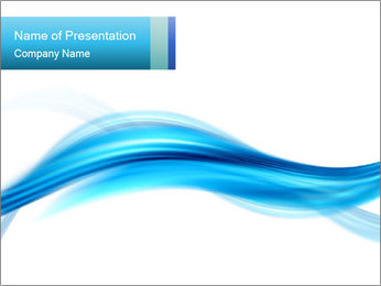 Blue Horizontal Lines PowerPoint Template