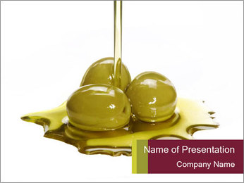 Pouring Oil over Olives PowerPoint Template