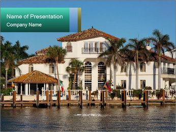 Front of Celebrity Villa PowerPoint Template