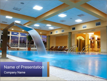 Swimming Pool in Luxury Hotel PowerPoint Template