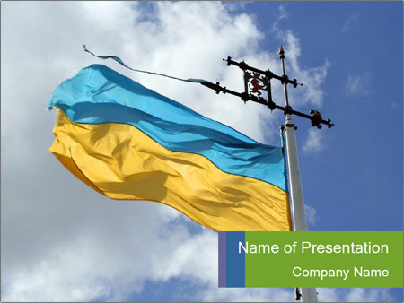 Ukrainian national flag powerpoint template backgrounds id ukrainian national flag powerpoint templates toneelgroepblik Image collections