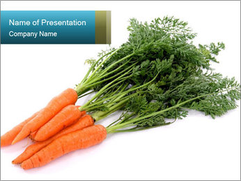 Carrots from Organic Market Garden PowerPoint Template