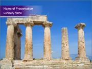 Antika tempel i Grekland PowerPoint presentationsmallar