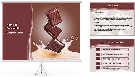 milkshake with chocolate bar powerpoint template backgrounds id 0000016539. Black Bedroom Furniture Sets. Home Design Ideas