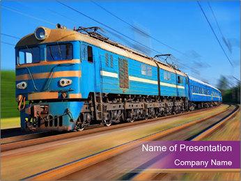 Soviet Passenger Train PowerPoint Template