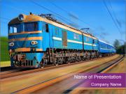 Soviet Passenger Train PowerPoint Templates