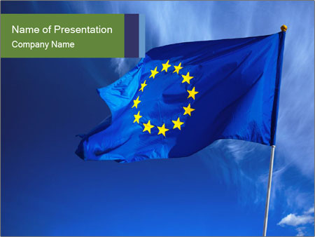 official flag of european union powerpoint template & backgrounds, Modern powerpoint