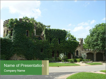 Castle Covered in Greenery PowerPoint Template