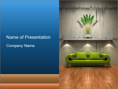 Modern Concept in Interior Design PowerPoint Template