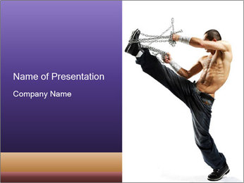 Modern Dance with Metal Chain PowerPoint Template
