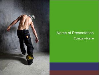 Guy Dancing in Krump Style PowerPoint Template