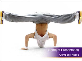 Headstand in Breakdancing PowerPoint Template