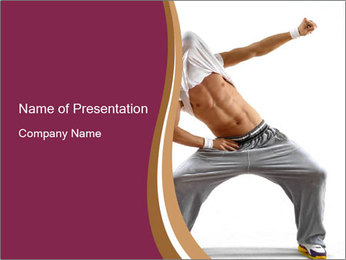 Trained Body of a Breakdancer PowerPoint Template