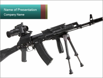 Weapon of Armed Force PowerPoint Template