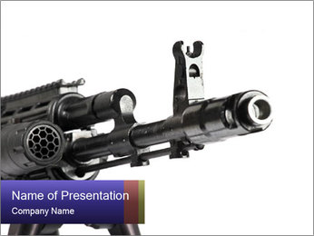 Kalashnikov Gun with Optical Sight PowerPoint Template