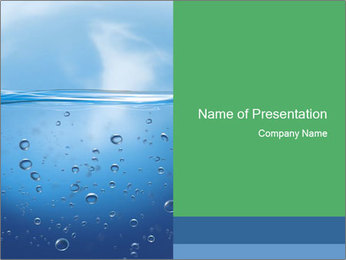 Air Bubbles under Water PowerPoint Template