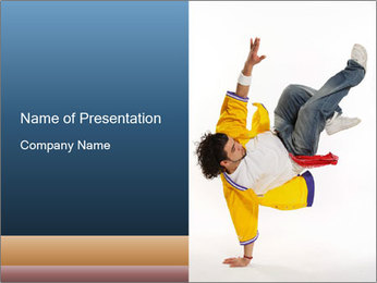 Stylish Guy Demonstrating Breakdance PowerPoint Template